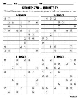 Sudoku Puzzle Moderate 02