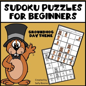 Sudoku Puzzles for Beginners - Groundhog Day Theme