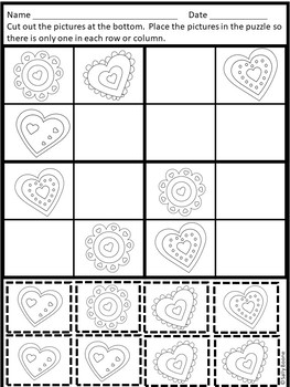 Valentine's Day Activities Sudoku Puzzles for Beginners