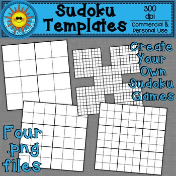 Sudoku Template Clip Art (Simple to Advanced)