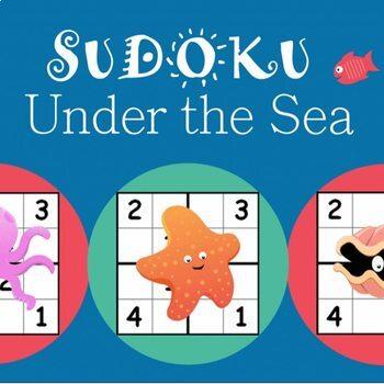 Sudoku Puzzle Worksheet Bundle