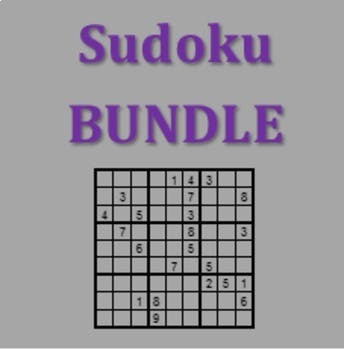Sudoku Vocabulary Games in French Bundle