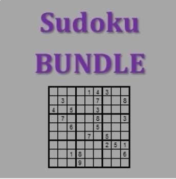 Sudoku Vocabulary Games in German Bundle