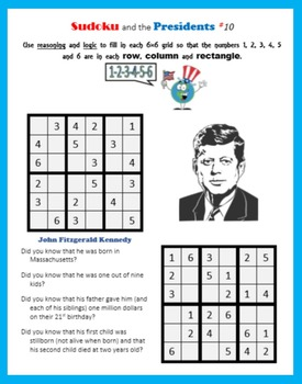 Sudoku and the Presidents