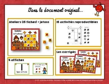 Sudoku de l'automne [Sample] [Demo] [French] [Math Center]