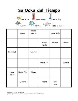 Sudoku del Tiempo- A Weather Sudoku in Spanish