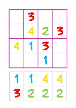 Sudoku for beginners 4 x 4 - level 2
