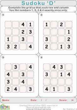 Sudoku fun (6 Numeracy sheets)