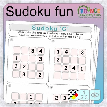 Sudoku fun (6 distance learning worksheets for Numeracy)