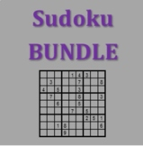 Sudoku Vocabulary games in Spanish Bundle