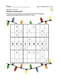 Sudoku holidays puzzles - 50 worksheets - Pack 1