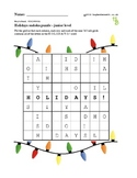 Sudoku junior holidays puzzles - 50 worksheets - Pack 1