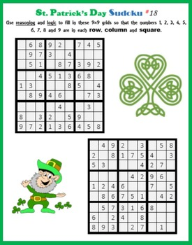 Sudoku on St. Patrick's Day