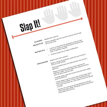 Sue Pal's Test Review Slap It Game