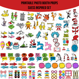 Suess Inspired Printable Photo Booth Prop Set
