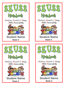 Suess Take-home Folder Label