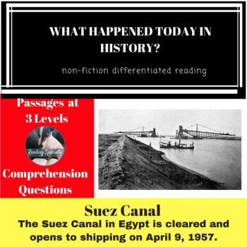 Suez Canal Differentiated Reading Passage April 9
