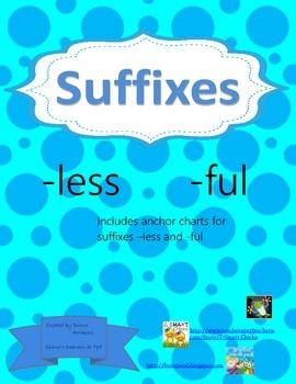 Suffix Anchor Chart -less -ful