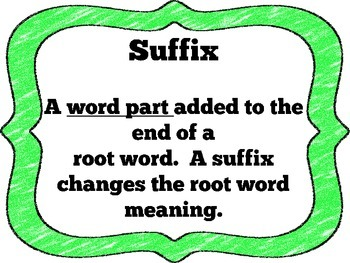 Suffix Anchor Posters