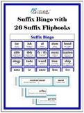 Suffix Bingo with 26 Suffix Flipbooks