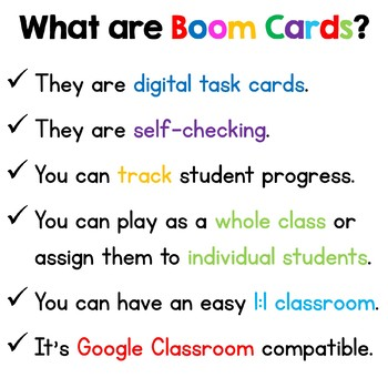 Suffix Boom Cards Distance Learning