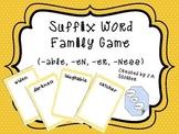 Suffix Card Game