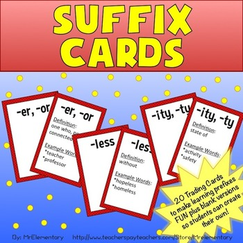 Suffix Trading Cards
