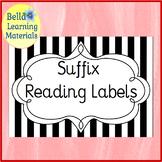 Suffix Cards  - Montessori Word Study