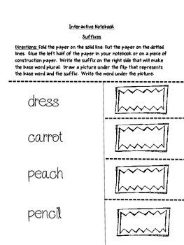 Suffix Centers - Common Core Aligned