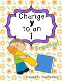 Suffix: Change y to i, Freebie!