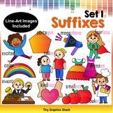 Suffix Clipart Set 1