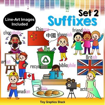 Suffix Clipart Set 2
