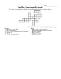 Suffix Crossword Puzzle