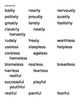Suffix Cut & Paste