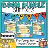 Suffix Digital Task Card Bundle: 3 Boom Card Decks! Distan