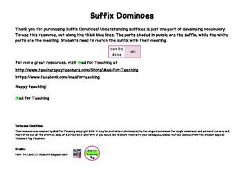 Suffix Dominoes