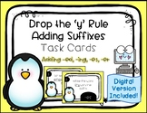 Suffix Drop the 'y' rule Task Cards