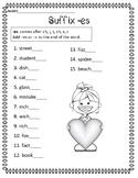 Suffix ES Practice Page