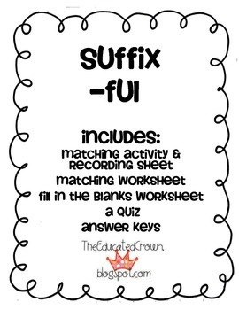 Suffix FUL activity, matching, sentences, and quiz!