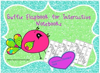 Suffix Flapbook for Interactive Notebooks