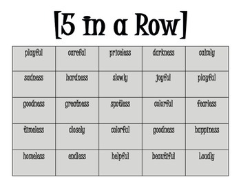 Suffix Flip Book and Game