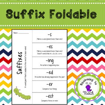 Suffix Foldable