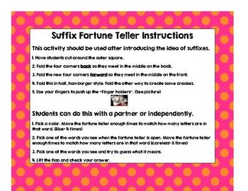 Suffix Fortune Teller