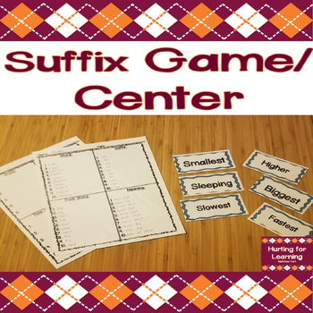 Suffix Game/Activity - Practice With Suffix Meanings