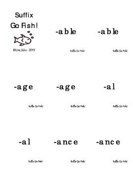 Suffix Go Fish!
