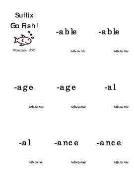 Suffix Go Fish!