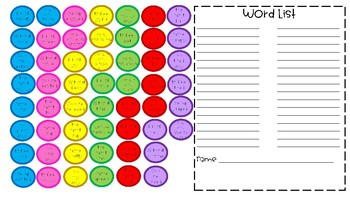 Suffix Gumballs! Matching Game