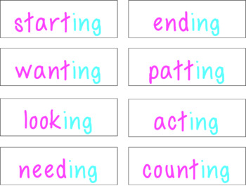 Suffix ING Activity Pack