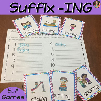 Suffix ING Word Work Packet