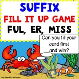 Suffix Games - Fill it Up - Full, Er, Ness